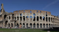 Tourists Visiting Famous Italian Landmark Colosseum Rome Italy Establishing Shot Footage