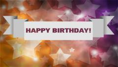 Abstract vector banner.  Happy Birthday! - stock footage