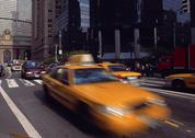 Stock Photo of Yellow Cab