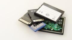 Memory card Stock Footage