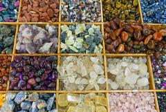 Colourful gemstones Stock Photos