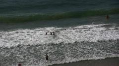 Tel Aviv beach aerial Stock Footage