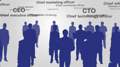 Business management hierarchy - stock footage