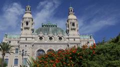 Monaco Monte Carlo Casino Gambling Entertainment Complex Cote d'Azur Europe day Stock Footage