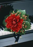 Stock Photo of Bouquet and Piano