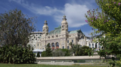Monte Carlo Casino Gambling Grand Theatre Les Ballets Cote d'Azur blue sky day Stock Footage