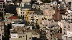 Tel Aviv Skyline aerial Stock Footage