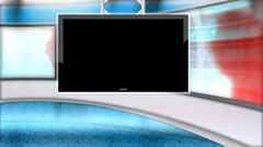 Virtual Studio Background (WITH ALPHA) - stock footage