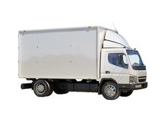 white commercial delivery truck - stock illustration