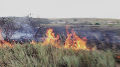 Amazon-Savana-Fire-Indigenous-Hut-River-Venezuela Stock Footage