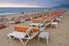 Cleaopatra beach, alanya, turkey Stock Photos