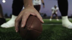 Football Being Hiked - stock footage