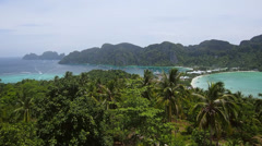 Koh Phi Phi Island from Phi Phi Viewpoint, Thailand Stock Footage