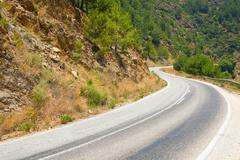 Road near alanya in taurus mountains, turkey Stock Photos