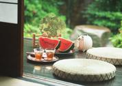 Stock Photo of Porch in Summer