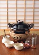 Japanese-style Stew Cooked at the Table Preparations Stock Photos