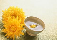 Stock Photo of Liquor of Chrysanthemum Blossoms