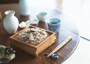 Stock Photo of Buckwheat Noodles