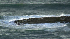 Jetty and waves Stock Footage