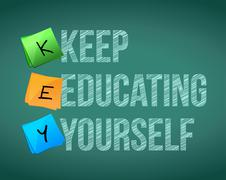 Keep education yourself illustration design Stock Illustration