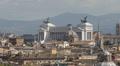 Aerial View Rome Skyline Italy Vittorio Emanuele II Altare Della Patria Sunlight Footage