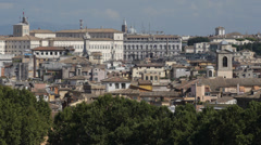 Aerial View Rome Skyline Quirinal Palace Palazzo del Quirinale Italian President Stock Footage