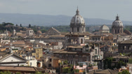 Stock Video Footage of Aerial View Rome Cityscape, iconic, roma, centre, central, old, buildings day