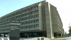 Dept. of Health and Human Services building, Washington, DC Stock Footage