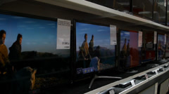 Shop of TVs Stock Footage