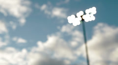 Stadium Lights on field Stock Footage