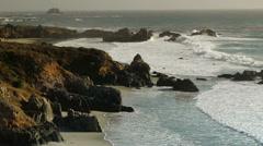 Rugged Coastline with Waves Stock Footage