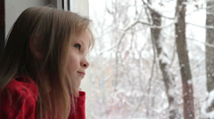 Snow outside the Window HD Stock Footage