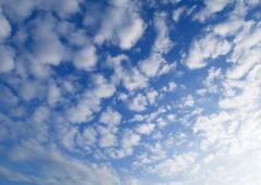 Altocumulus clouds in sky Stock Photos