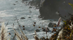 Hole in Rocks Big Sur Coast Stock Footage