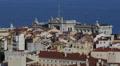 Aerial View Monaco Ville Skyline Oceanography Museum, Oceanographic Facade Day Footage
