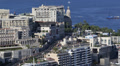 Aerial View Monaco Monte Carlo Skyline Cityscape, Road Car Traffic Water Sport HD Footage