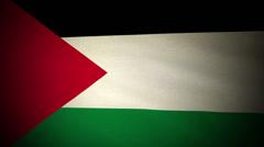 Flag Palestine 04 Stock Footage