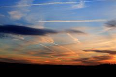 Colourful sunset Stock Photos
