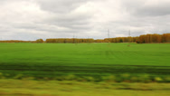 Stock Video Footage of Movement along the agricultural fields in autumn (POV)