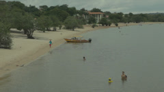 Olympics-Amazon-Brazil-alter-do-chao-para-santarem-people-beach Stock Footage