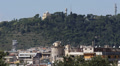 Aerial View Rome Cityscape Skyline Monte Mario Observatory Buildings Sunny Day Footage