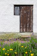 Entrance to a rural house - stock photo