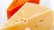 Stock Video Footage of delicatessen aged cheeses