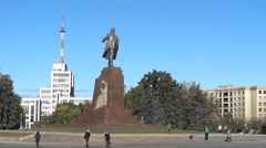 Lenin Monument Stock Footage