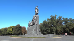 Shevchenko Monument Stock Footage