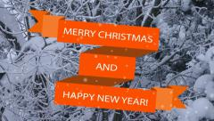 Vector banner Merry Christmas and Happy New Year! - stock footage