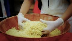0018 couscous Stock Footage