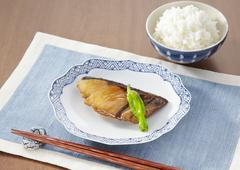 Yellowtail teriyaki - stock photo