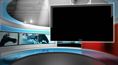 Virtual Studio Background (WITH ALPHA) Stock Footage