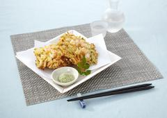 Mixed vegetable and seafood tempura - stock photo